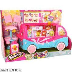 Shopkins Glitz Ice Cream Truck Scoops Glitter Exclusive Bags & Figures HTF NEW #Moose