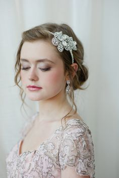 Makeup by @Claudia Mejerle; Jeweled headband by Fine & Fleurie.  Love love love.