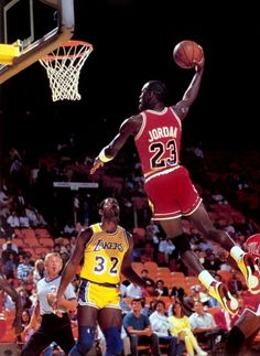 Michael Jordan Chicago Bulls Los Angeles Lakers Earving Magic Johnson