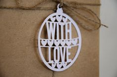 Christmas Gift Tags - Bauble - With Love | Felt