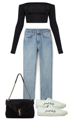 """Untitled #4352"" by theeuropeancloset on Polyvore featuring Yves Saint Laurent"