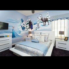 Frozen Bedroom for Girls | Frozen bedroom!! Nuggie nue's bed
