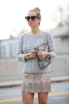 glitzy glam outfit