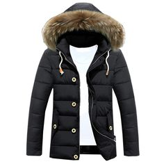 41.03$  Watch now - http://aliz2a.worldwells.pw/go.php?t=32756026728 - Chaqueta Hombre Jackets Male Clothes Fashion New Plus Coats Warm Winter Mens Casual Fur Collar Hooded Hat Detachable Outwear