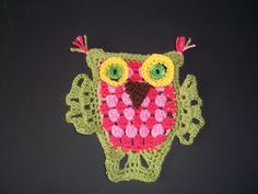 Lucy 'In the sky': Granny Stripe Owl - Pattern Free Download