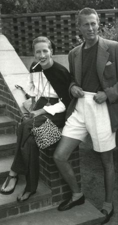 Diana Vreeland and her husband, Reed Vreeland, in Southampton. Note the sandals, copied from one she saw in a mural in Pompeii, painted before the birth of Christ.
