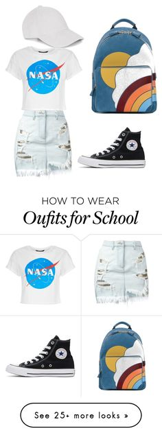 """""""Back to school"""" by hannahkelley214 on Polyvore featuring Versus, Converse and Anya Hindmarch"""