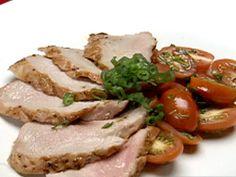 Pork Tenderloin with Dijon Brown Sauce Recipe : Robert Irvine : Food ...