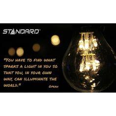 #StandardProducts #Montreal #Quebec #Ontario #Toronto #Ottawa #Calgary #Alberta #BC #Vancouver #Lighting #Quote #Oprah #InnerLight #Motivation #Sparkle