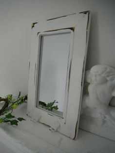 contemporary wall mirror white wall mirror beach by Thewaterssong, $27.50