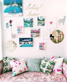 Gallery wall goals @moonandlola