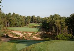 "Pine Valley (N.J.) G.C.Par 4, 18th hole ""Is there a better test mentally? Time after time, you have to trust your swing.""      ""The target areas are wide and forgiving. But when you miss the target, the bunkers will eat you alive."""