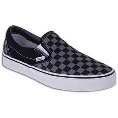 Mens Vans Classic Black Grey Slip-On Vans Classic Black 3908c6ae9
