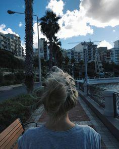 The wind in hair.  #malta #sea #palmtrees #hair #wind #love #island