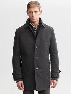Wool-blend topcoat   Banana Republic