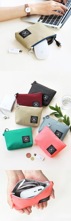 Are you looking for a small and wonderful pouch to store your electronics? The Wind Blows Charger Pouch is a great choice! This cute and colorful pouch is designed to hold your charger and other small electronics and provides protection from water with water-resistant polyester and damage with the padded wall.