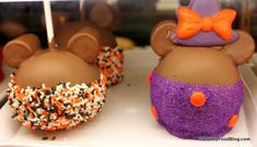 Mickey and Witch Minnie Chocolate Covered Caramel Apples
