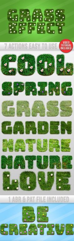 DOWNLOAD:    goo.gl/yuRdlX7 Photoshop Actions Grass Text Generator :High quality actions for your projects Very simple to edit & use. Very simple to use :Follow the tutorial here : HE...