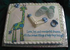 Giraffe Themed Baby Shower Cake | Giraffe Wilfd Animal Themed Baby Shower  Cake Just Baked Cakes