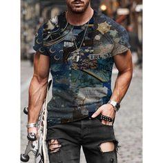 Tee Shirt Homme, Cheap T Shirts, Casual Shorts, Men Casual, Mens Fashion, Latest Fashion, Printed Shorts, Leggings, Sport