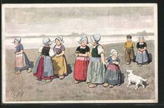 Vieux-artistes-AK-Karl-jour-ferie-filles-me-promener-sur-la-plage