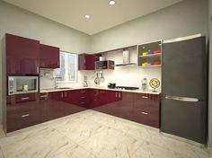 cocina moderna con muebles lacados