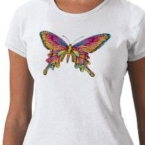Butterfly T-shirt ~ If you like my artwork, please visit my Zazzle store. I don't have much there, but will add more stuff if people show interest! :-)~