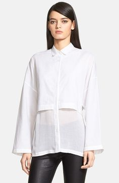 Helmut+Lang+Layered+Cotton+Lawn+Shirt+available+at+#Nordstrom