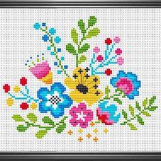 Cross Stitch Patterns, Punto Cruz Gratis, Cute Cross Stitch, Embroidered Cushions, Cross Stitch Boards, Counted Cross Stitch Patterns, Punch Needle Patterns