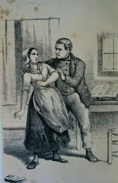 Illustratie bij de novelle Kruuzemuntje van J.J. Cremer. De illustratie is de eerste van drie overgeleverde tekeningen van Kruuzemuntje. Deze stamt uit 1870.