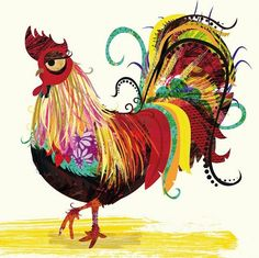 """.Victoria Topping, """"Cockerel""""    Victoria Topping, Illustrator  www.victoriatopping.com"""