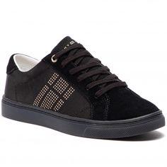 9114b1ff6c Sportcipő TOMMY HILFIGER - Sparkle Satin Essential Sneaker FW0FW03694 Black  990
