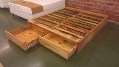 DIY Pallet Wood Bed Frame Ideas | Pallets Furniture Designs