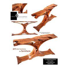 """Walker"" Mesquite Entry Table   Portfolio: Lou Quallenberg Live Edge Table, Wood Furniture, Home Improvement, Tables, Woodworking, Home Decor, Art, Sideboard, Centerpieces"