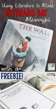 """Check out how to use Eve Bunting's """"The Wall"""" to dig into Veterans Day with your students. Remembrance Day Activities, Veterans Day Activities, Holiday Activities, Writing Activities, Classroom Activities, Classroom Ideas, Teaching Social Studies, Teaching Resources, Teaching Ideas"""