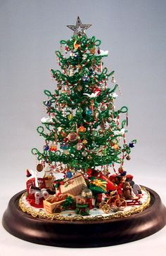 Beaded miniature Christmas Tree