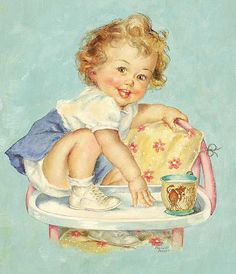 Vintage little girl - Charlotte Becker