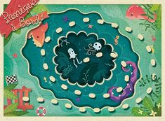 Panique à Bord ! | alxfactory.com Map Games, Games Box, Board Games, Play Pad, Kids Packaging, Board Game Design, Creative Industries, Graphic Illustration, Art Illustrations