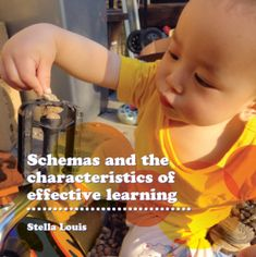 "Schemas and the characteristics of effective learning | Early Education - a handy booklet to have on hand in the setting to help identify children's schemas and plan appropriate activities to ""nourish"" the schema and extend learning and thinking."