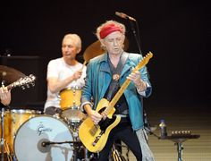 Keith Richards and Charlie Watts on stage with the Rolling Stones last night at London's O2 Arena.11 25 2012