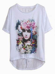 Rose Girl Printed T-shirt - Choies.com