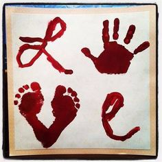 We might need a big piece of paper to feet our kiddo's hands and feet, but this is adorable!