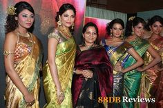 Palam Ravi and Jeyasree Ravi of Palam silks organized a fashion show under the title 'Silkline 13' which had the latest trends in fashion silk sarees on display. The fashion show was held at Hyatt Regency on the 21st of September, 2012.