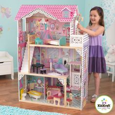 Annabelle Dollhouse Furniture Kidkraft New Barbie Wood Victorian Doll House Doll - Go Shop Dolls Wooden Dollhouse, Wooden Dolls, Dollhouse Furniture, Dollhouse Miniatures, Dollhouse Toys, Miniature Furniture, Victorian Dolls, Victorian Dollhouse, Victorian House