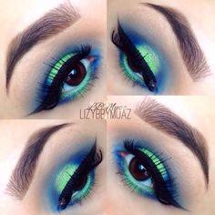 Beautiful Green & Blue Eyeshadow