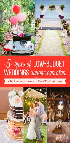 5 Types of Low-Budget Weddings Anyone Can Plan  #DontPayFull