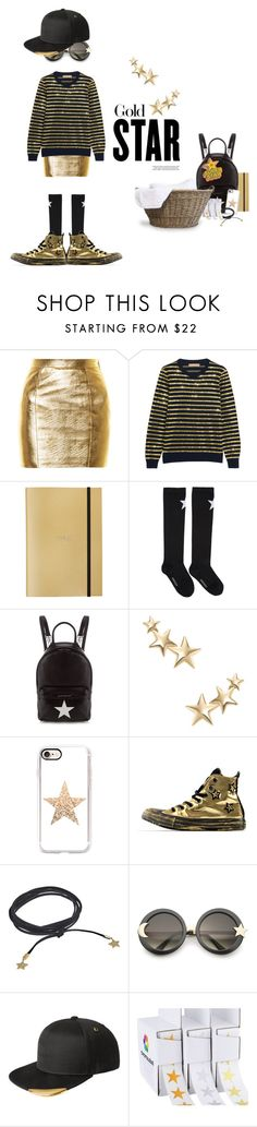 """What would you get an Adulting gold star sticker for today?"" by sharmarie ❤ liked on Polyvore featuring Yves Saint Laurent, Michael Kors, Undercover, Givenchy, Kenneth Jay Lane, Casetify, Converse, Rebecca Minkoff, ZeroUV and kangol"