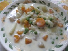 Äidin kesäkeitto (Mom's summer soup) A wonderful soup made with fresh vegetables from the garden (or market) Finnish Recipes, Food Humor, Funny Food, Fresh Vegetables, Cheeseburger Chowder, Food Inspiration, Food And Drink, Dinner, Cooking