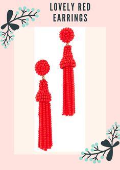 Deepa Gurnani tassel earrings made from seed beads #accessories #lovered #fashion #ad
