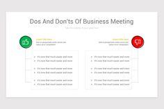 Dos and Don'ts Keynote Presentation Template Business Meeting, Keynote, Templates, Marketing, Stencils, Vorlage, Models